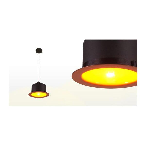 Stropní světlo Hat Black/Orange