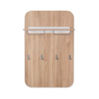 Cuier de perete din lemn de stejar Gazzda Ena imagine