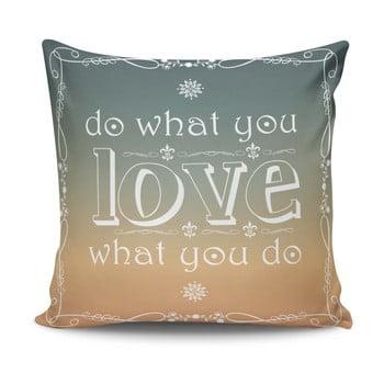 Pernă din amestec de bumbac Simple Love, 45 x 45 cm imagine