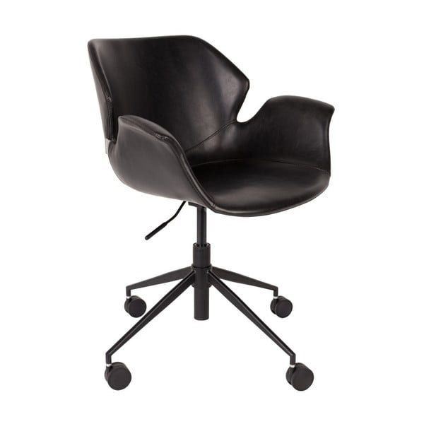 Scaun birou Zuiver Office Chair Nikki, negru