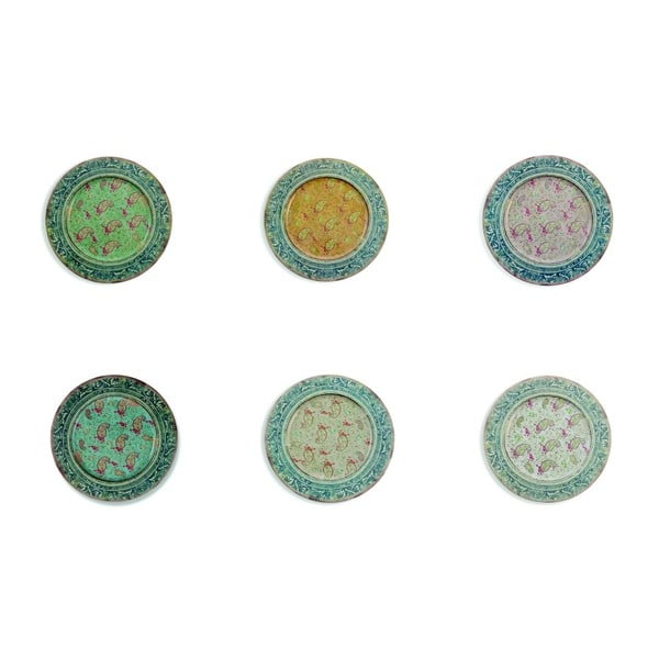 Sada 6 cínových talířů Villa d'Este Sottopiatto, ø 33 cm
