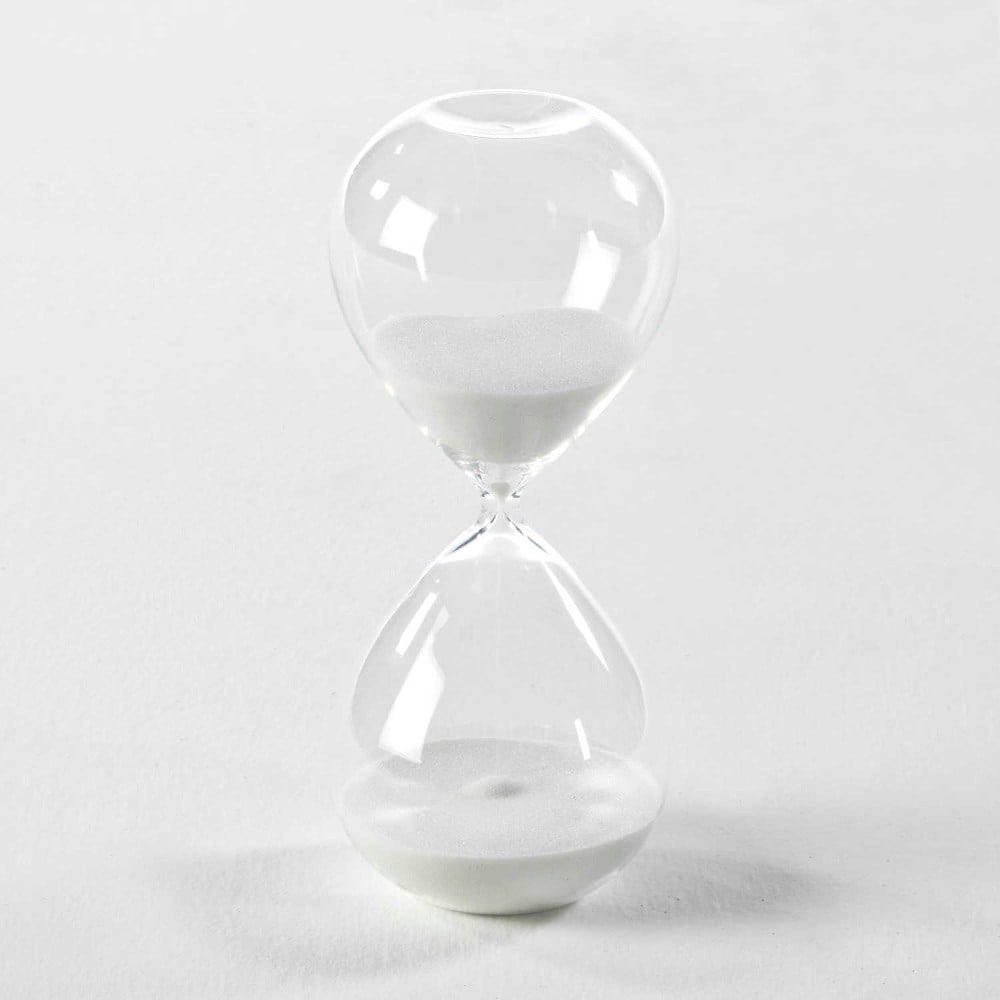 Přesýpací hodiny s bílým pískem Thai Natura, 9 x 18 cm