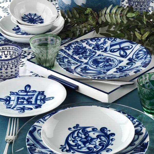 24-częściowy zestaw talerzy porcelanowych Kutahya Manilla