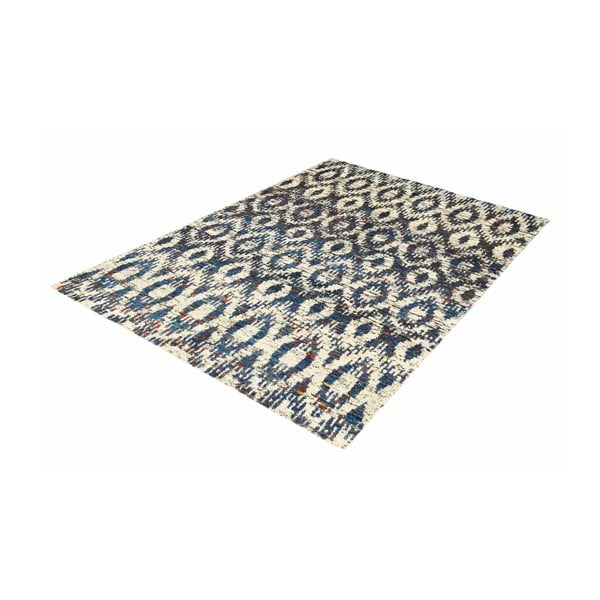 Vlněný koberec Ikat H7 Blue, 120x180 cm