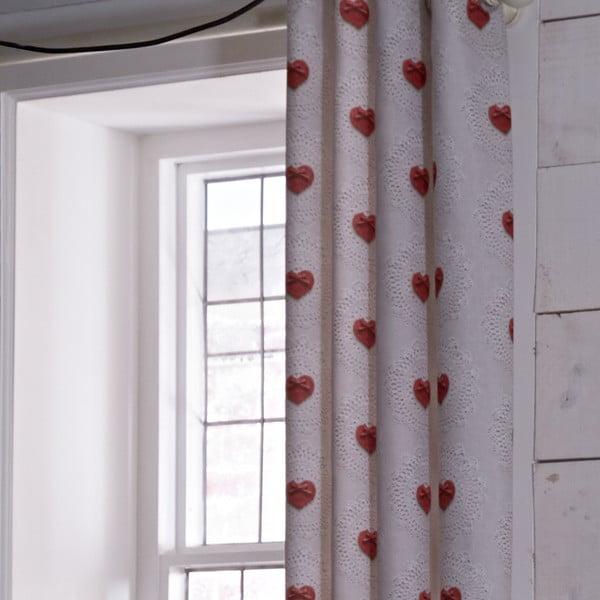 Závěs Doily Hearts, 168x183 cm