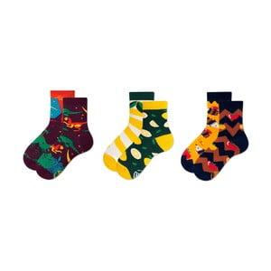 Sada 3 párů dětských ponožek v dárkovém balení Many Mornings Dino, vel. 31–34