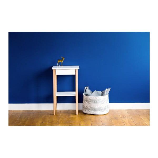 Bílý odkládací stolek Ragaba Entlik