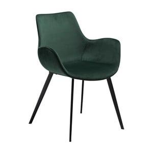 Tmavě zelená jídelní židle s područkami DAN-FORM Denmark Hype