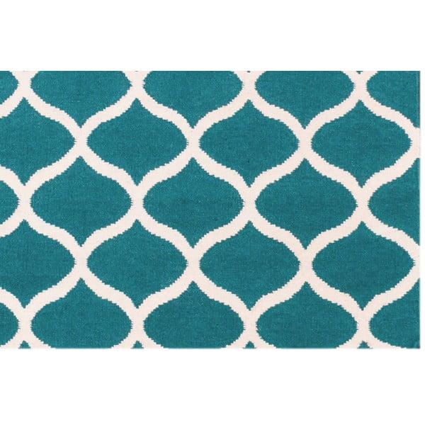 Vlněný koberec Alize, 60x90 cm, modrý