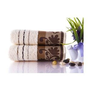 Set dvou ručníků Melodi Brown, 50x90 cm