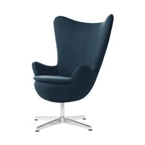 Tmavě modré otočné křeslo My Pop Design Indiana