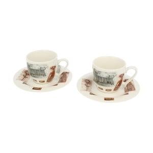 Sada 2 porcelánových šálků Duo Gift Cat, 250 ml