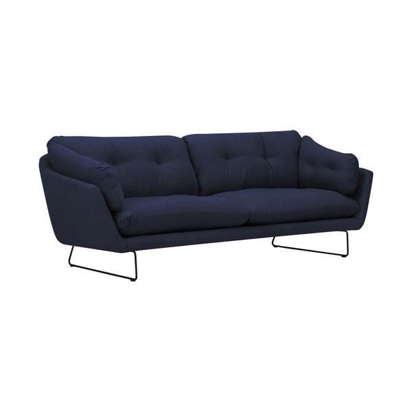 Tmavě modrá třímístná pohovka Windsor & Co Sofas Comet