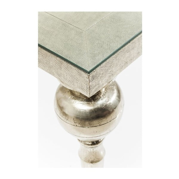 Jídelní stůl ve stříbrné barvě z mangového dřeva Kare Design Louis, 200 x 100 cm