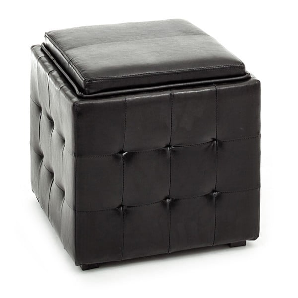 Černý puf s úložným prostorem Tomasucci Case
