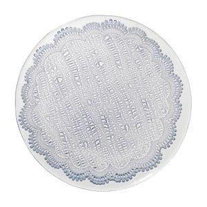 Modrý skleněný dezertní talíř Côté Table Tulle, 21cm