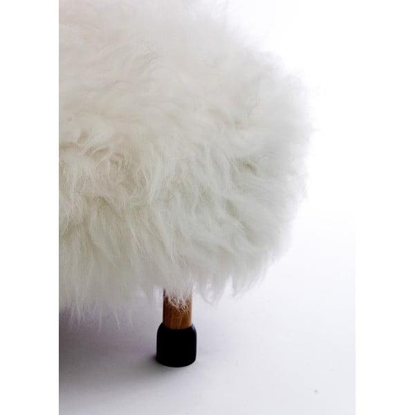 Stolička z ovčí kůže Nia Ivory