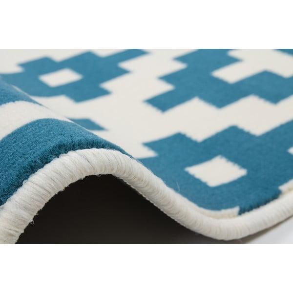 Modro-bílý koberec Kayoom Stella 300, 200x290cm