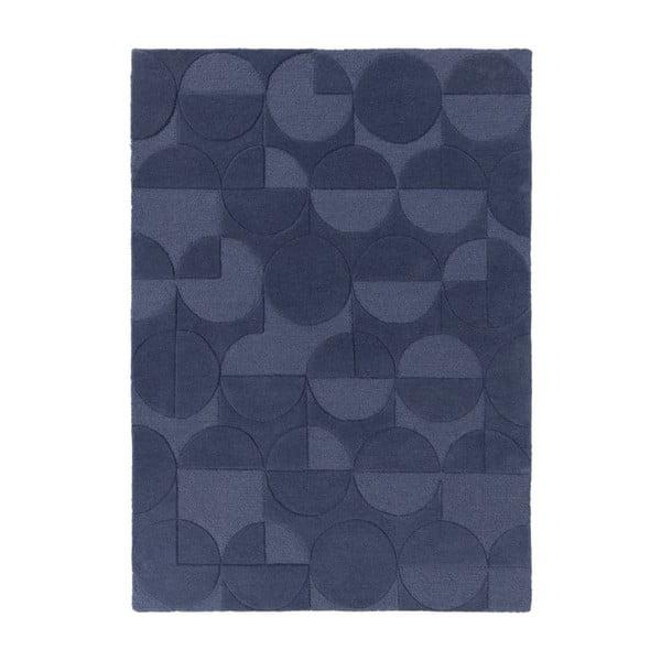 Covor din lână Flair Rugs Gigi, 160 x 230 cm, albastru
