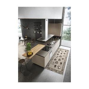 Šedý vysoce odolný kuchyňský běhoun Webtappeti Lovely Ardesia,55 x 140cm