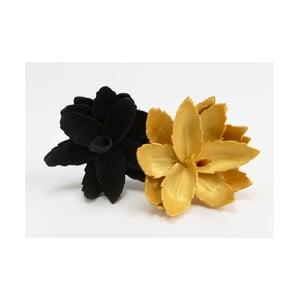 Sada 2 umělých květin Mini Black/Gold