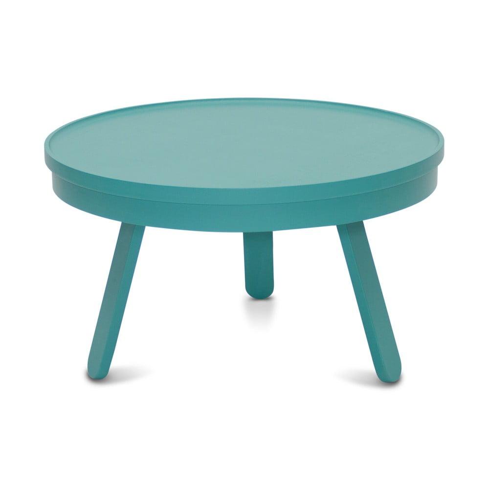 Zelenomodrý odkládací stolek z jasanového dřeva s úložným prostorem Woodendot Batea M