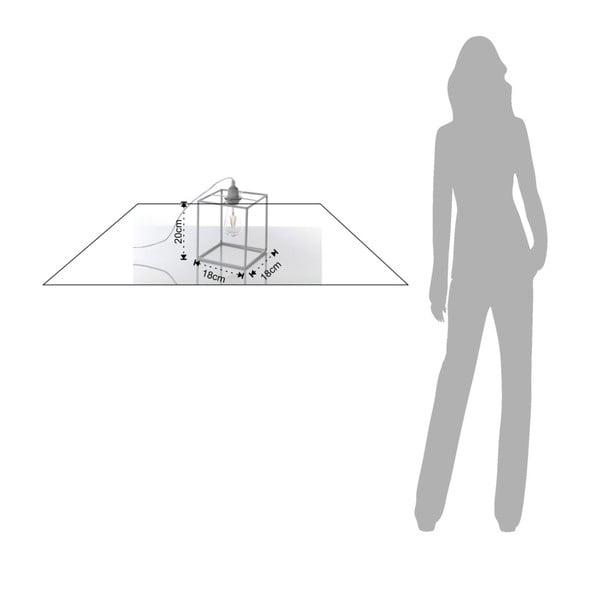 Šedivá stolní lampa Tomasucci Stick, 20x18x18cm
