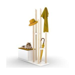 Set věšáku na kabáty a lavice s úložným prostorem se žlutým detailem Rafevi Katana