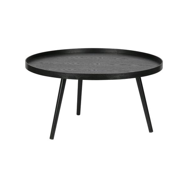 Čierny konferenčný stolík WOOOD Mesa, Ø 78cm