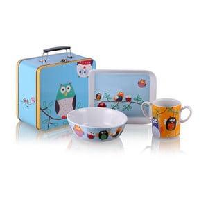 Snídaňový set v kufříku Owls