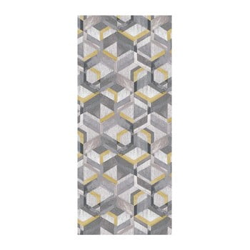 Covor Floorita Retro Grey Ochre, 60 x 115 cm