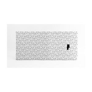 Bílá podložka na hraní Little Nice Things, 120 x 60 cm