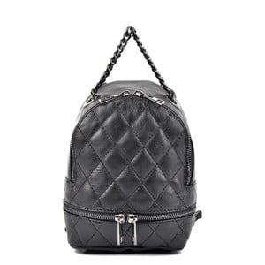 Černý kožený dámský batoh Roberta M Musillo