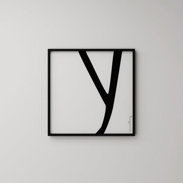 Plakát Litera Y, 50x50 cm