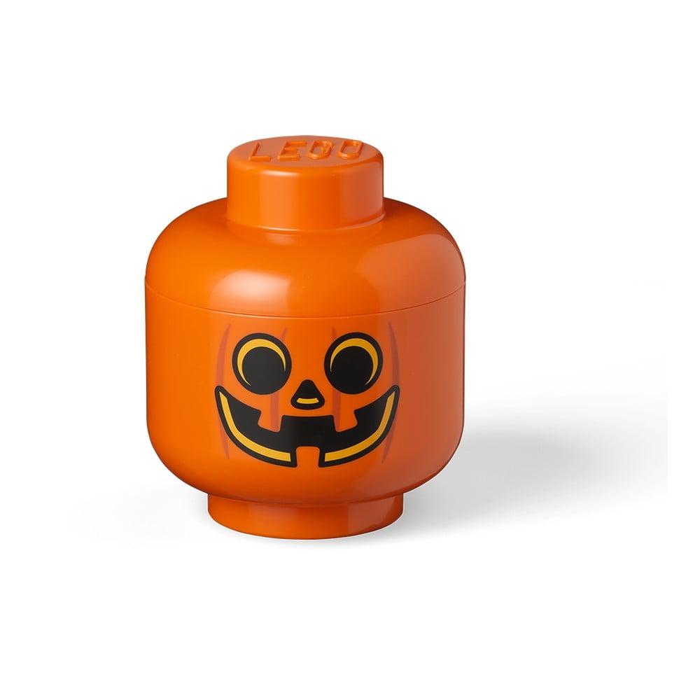 Oranžový úložný box LEGO® Pumpkin Head S