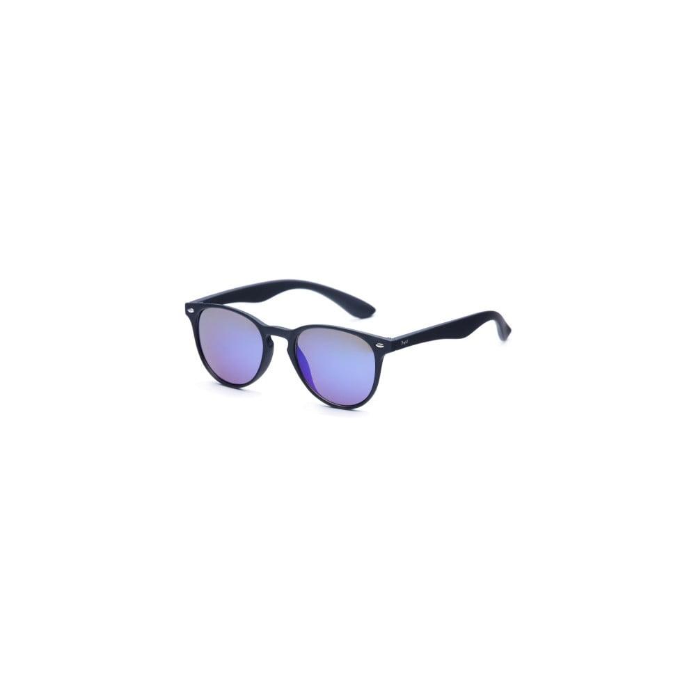 Sluneční brýle s černými obroučkami a modrými skly David LocCo Globetrotter Snazzy