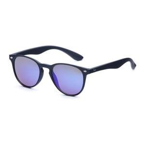 Ochelari de soare David LocCo Globetrotter Snazzy, rame negre, lentile albastre