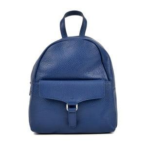 Modrý kožený batoh Isabella Rhea Mille