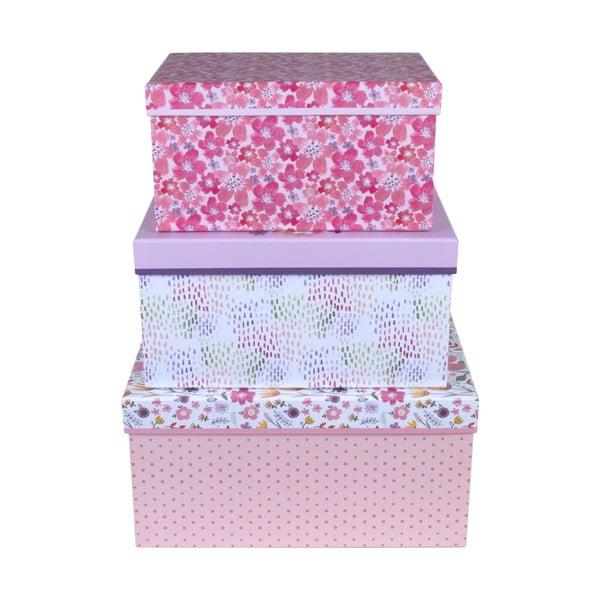 Sada 3 úložných krabic Tri-Coastal Design Jenna Lynn