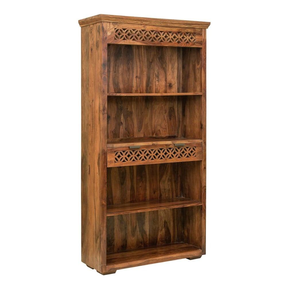 Knihovna z masivního palisandrového dřeva se zásuvkou Massive Home Rosie