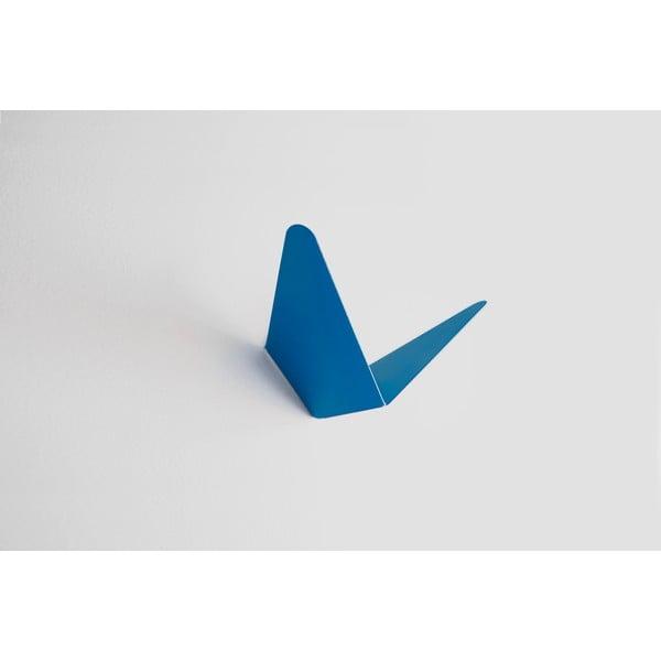 Modrý věšák s úložným prostorem Butterfly Small, 8,9x8,3 cm