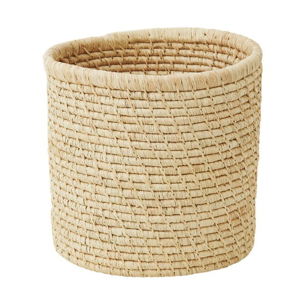 Přírodní košík z rýžových vláken, 25 cm