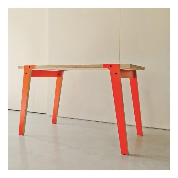 Oranžový jídelní/pracovní stůl rform Switch, deska 150x75 cm