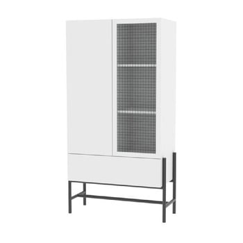 Cabinet cu uși din sticlă Interstil Norse, înălțime 150 cm imagine