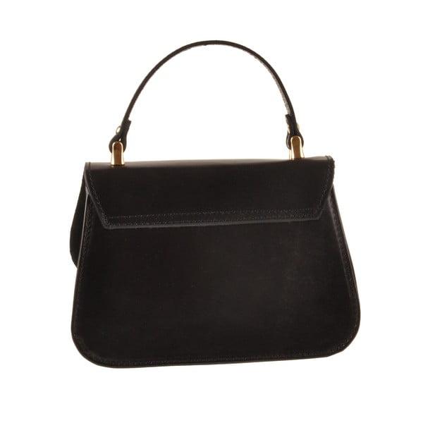 Kožená kabelka Flaux, černá
