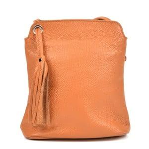 Koňakově hnědý dámský kožený batoh Carla Ferreri Harro