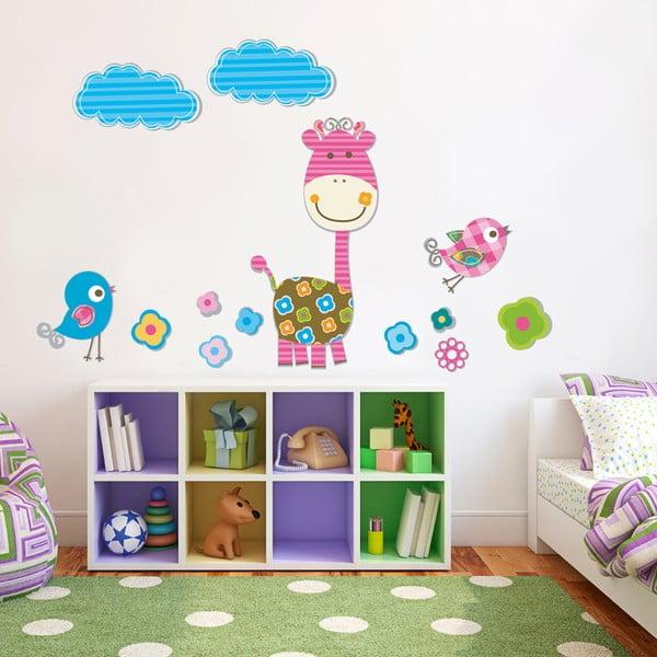 Samolepka na stěnu Pruhovaná žirafa, 50x70 cm