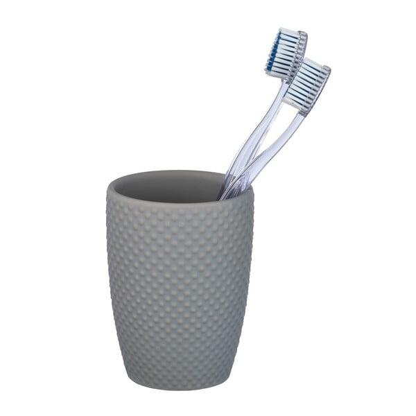 Punto szürke kerámia fogkefetartó pohár - Wenko