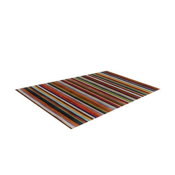 Vlněný koberec Wimbledon, 170x240 cm, proužkovaný