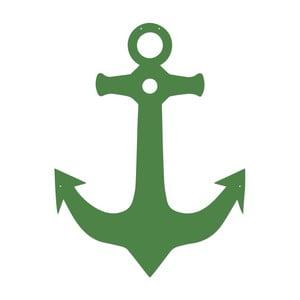 Zelená kovová nástěnná dekorace Anchor